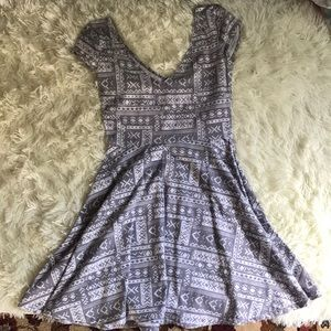 Hollister tribal print fit and flare dress